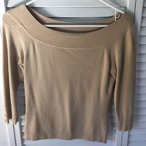 Ann Taylor Light Wt boatneck sweater SP - Beige